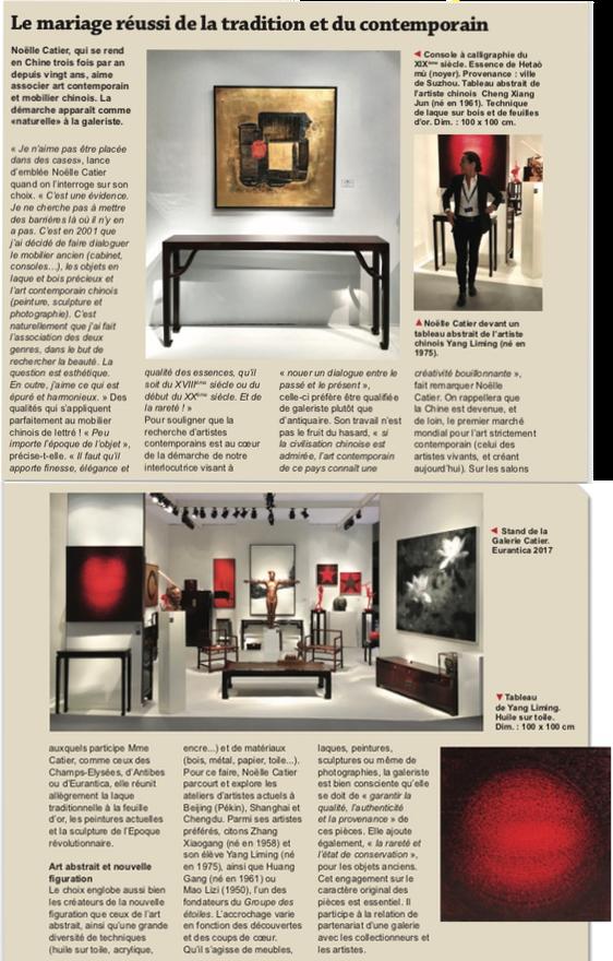galerie catier art contemporain chinois antiquaires article paris match brussels presse